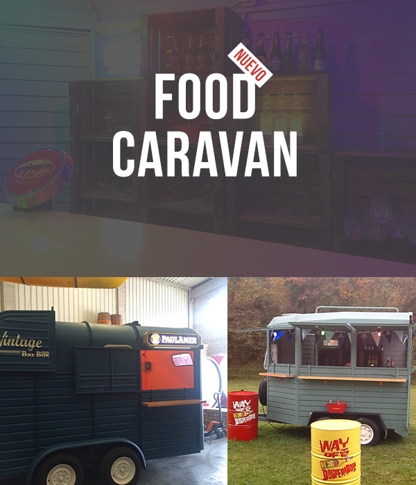 Food Caravan carrito de la cerveza